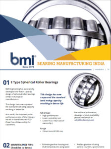 E Type spherical roller bearing