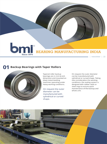 Tapered-roller-backup-bearings
